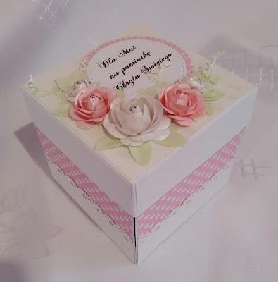 pudełko na chrzest dziewczynki