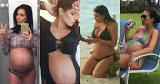 grávidas estilosas na praia