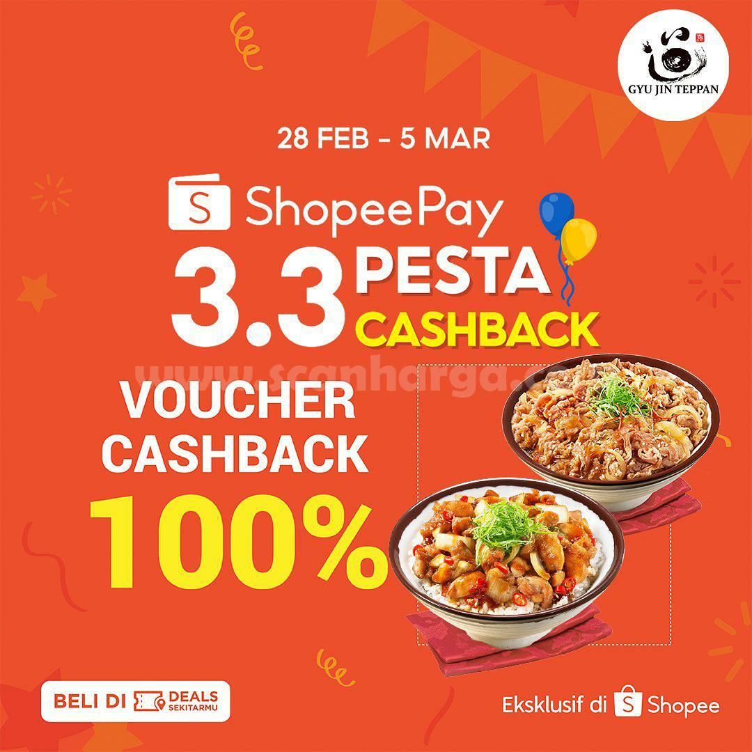 GYUJIN TEPPAN Promo Voucher Deals ShopeePay Cashback 100%