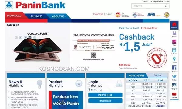 sms, internet, mobile banking panin