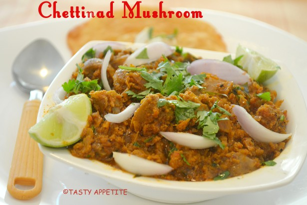 mushroom chettinad