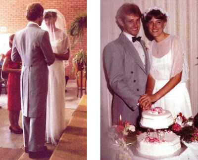 Our wedding day 35 years ago -  February 26, 1983