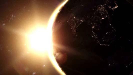 خلفية فيديو للمونتاج لمشهد حقيقي لشروق الشمس على الأرض,Planet Earth Sunrise Series HD 720 download