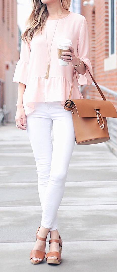 casual style addiction: top + bag + pants
