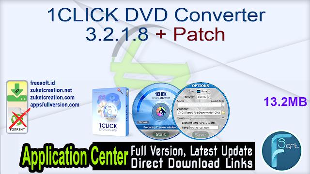1CLICK DVD Converter 3.2.1.8 + Patch