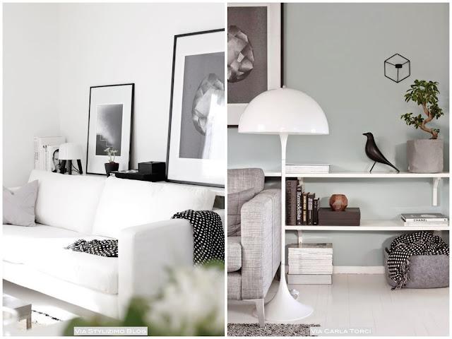 idéias de mesa lateral para sala pequena