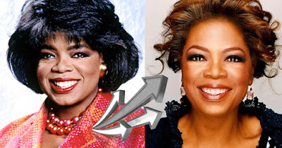 Oprah then versus now