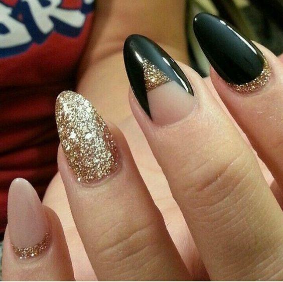 cute fall nail art design idea