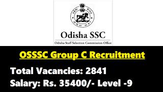 OSSSC Group C Recruitment