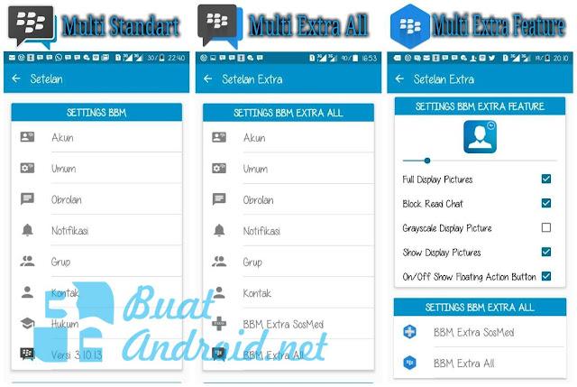Download Dual BBM+BBM2+BBM3+BBM4 Versi 3.1.0.13 Apk Terbaru Untuk Android