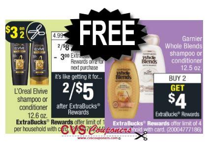FREE Garnier & L'Oreal Hair Care CVS Deal 1117-1123