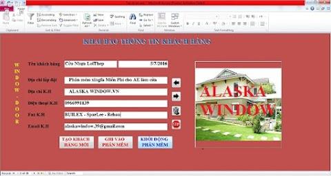 Phần mềm sản xuất cửa nhôm Việt pháp Alaska windows