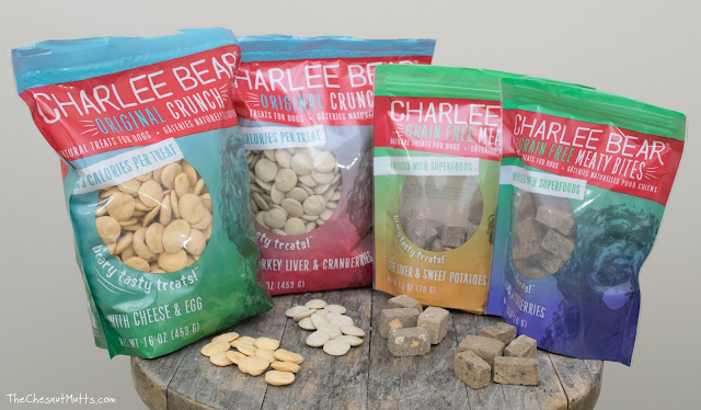 Charlee Bear original crunch and meaty bites dog treats