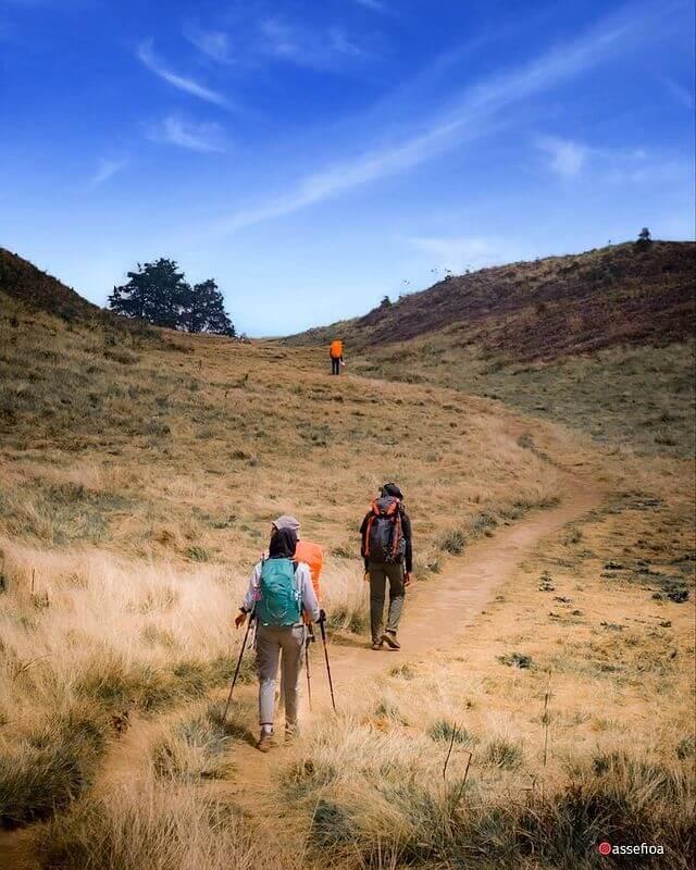 Mendaki gunung bisa menignkatkan stamina tubuh - foto instagram assefioa