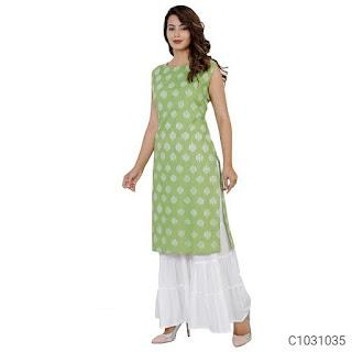 Stylish Rayon Printed Sharara Sets