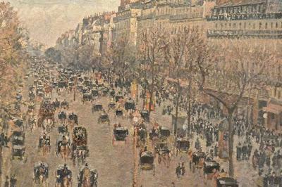 Camillo Pissaro : le boulevard Montmartre paris  Saint Pétersbourg musée Ermitage 2 Etat-Major en face du palais d'Hiver