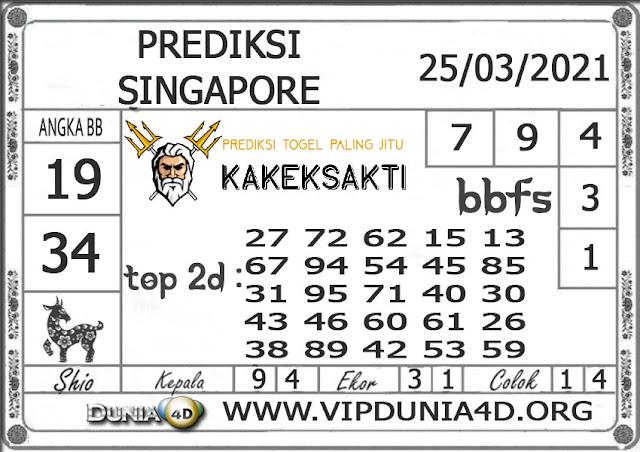Prediksi Togel SINGAPORE DUNIA4D 25 MARET 2021