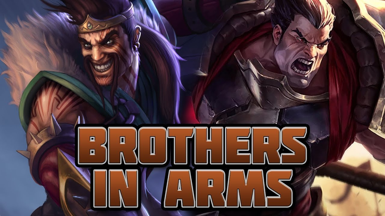 Darius and his brother Draven only appeared in Wild Rift with patch 1.1.