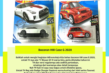 Bocoran Hot Wheels Case G 2020