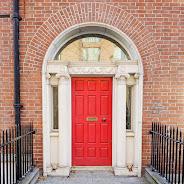 Red Dublin door on Gardiner Street