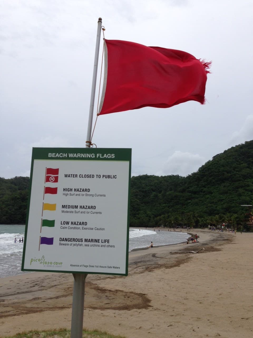 Warning signs at Pico de Loro Beach & Country Club