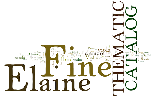 Elaine Fine's Thematic Catalog