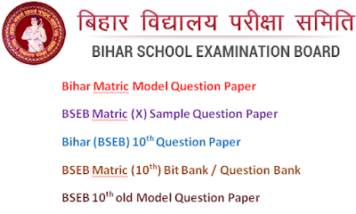 Bihar (BSEB) Matric Model Question Paper 2017