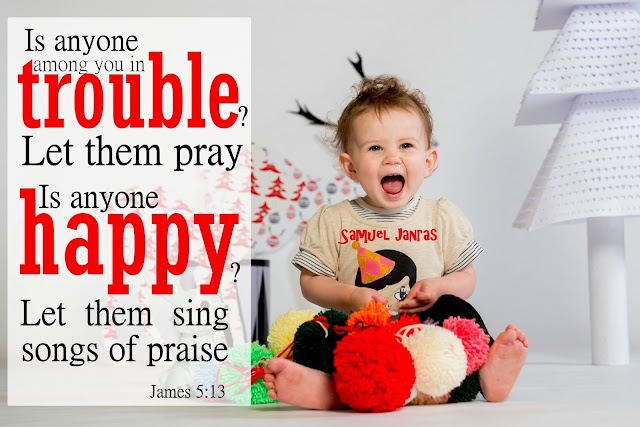 Trouble Happy Praise Baby Bible Verse Wallpapers