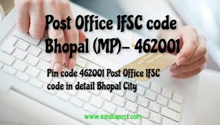 Post Office IFSC code bhopal
