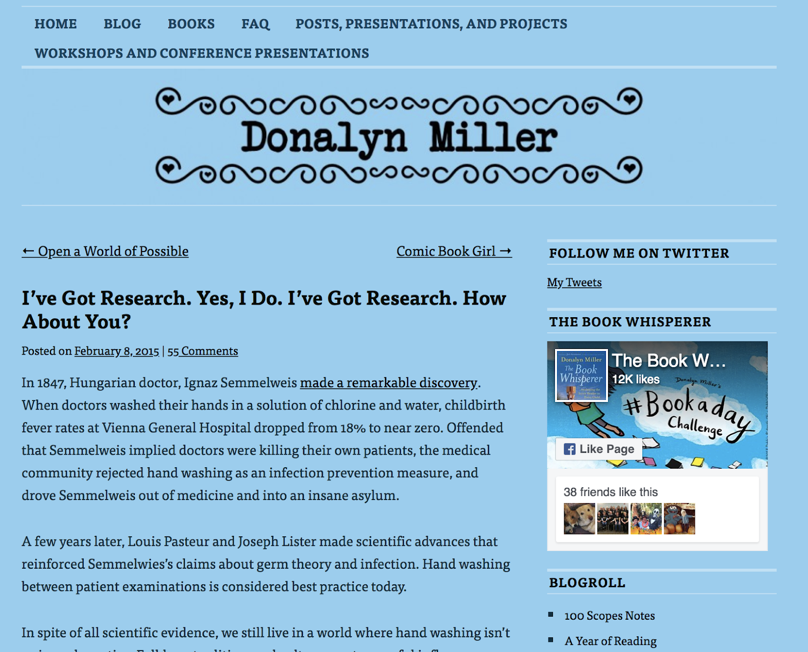 Research on the Power of Reading curated by Donalyn Miller
