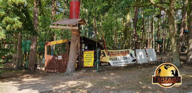 Park linowy tarzania szczecin głębokie