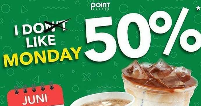 Point Coffee Promo I Like Monday Tiap Senin Diskon 50%