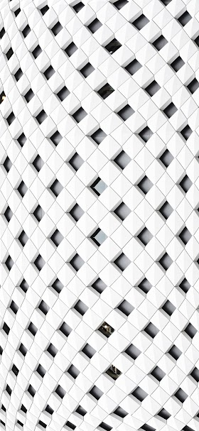 Cool white architecture pattern wallpaper