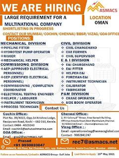 Multinational Company Job in Oman