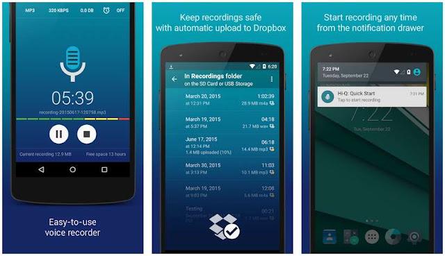 Aplikasi Perekam Suara di Android