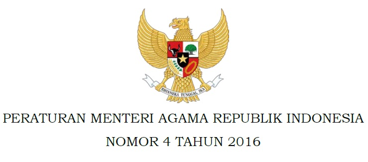 PMA Nomor 4 Tahun 2016