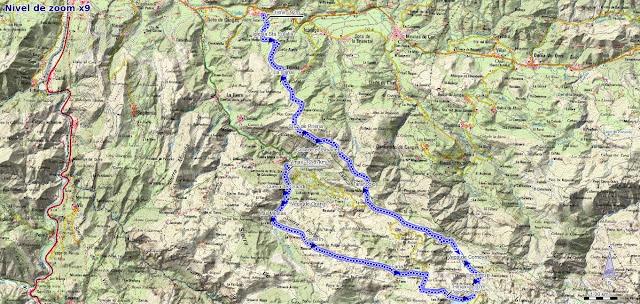 Mapa de la ruta de Frassinelli y Reconquista entre los Lagos y Covadonga