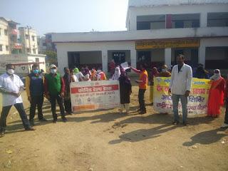 जालौन: नगर क्षेत्र की स्वास्थ्य टीम ने उरई में रैली निकालकर दो गज की दूरीए, मास्क है जरूरी का संदेश दिया -डॉ. जितेंद्र कुमार