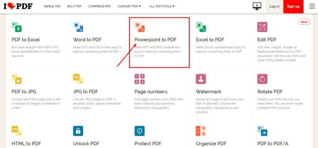 Convert PowerPoint PDF Online