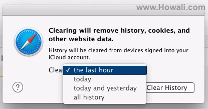 How to delete browsing history on Safari in Mac