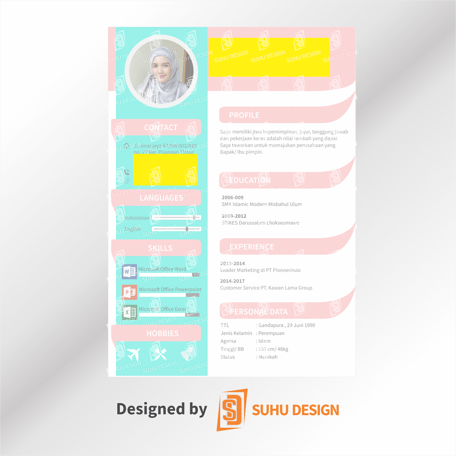 Hasil Desain Cv Suhu Design Bikincvindo 0003 Suhu Design Jasa