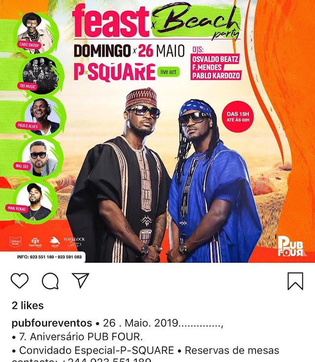 PETER PSQUARE IN FRESH SCANDAL IN ANGOLA