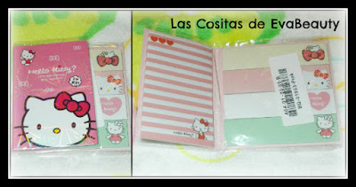 papelería kawaii, bonita, hello kitty, posits libro, aliexpress