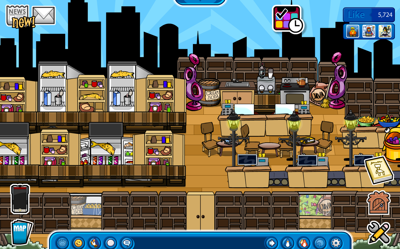Club Penguin Igloo Ideas: 101 Igloo Ideas #8: Grocery Store