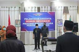 Abdul Gani Kasubah Pimpin Pelantikan Anggota Komisi Informasi Maluku Utara Periode 2021-2025