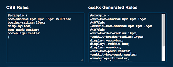 cssFx.js - Automatically Create Vendor-Specific CSS3 Properties