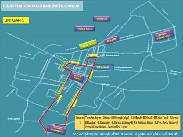 Jalur Angkot Cianjur 2018
