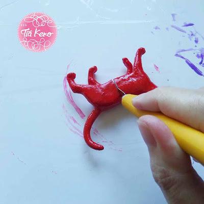 Tía Keko y manualidades de pintura