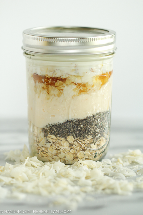 orange coconut overnight oats breakfast recipe