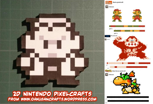 Ninjatoes Papercraft Weblog 2d Nintendo Pixel Papercrafts